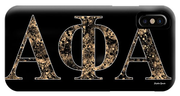 African American iPhone Case - Alpha Phi Alpha - Black by Stephen Younts