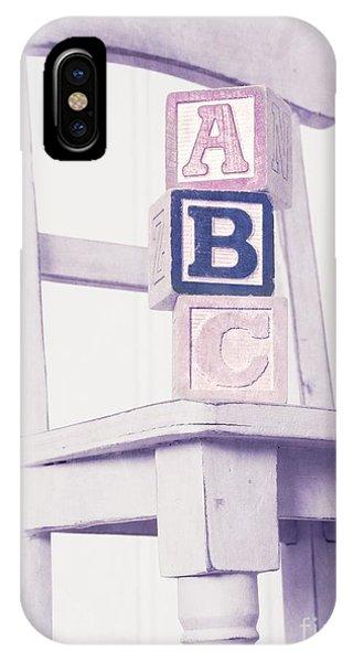 Chair iPhone Case - Alphabet Blocks Chair by Edward Fielding