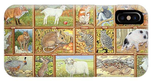 Lynx iPhone Case - Alphabetical Animals by Ditz