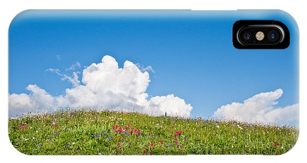 Alpine Meadow And Cloud Formation IPhone Case