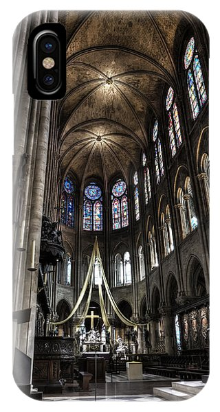 Old Rugged Cross iPhone Case - Altar At Notre Dame Paris France by Evie Carrier