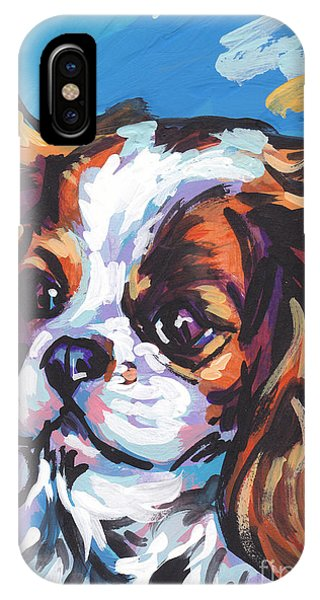 King Charles iPhone Case - Always Cavalier by Lea S