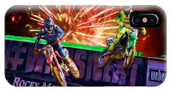 Ama 450sx Supercross Trey Canard Leads Chad Reed IPhone Case