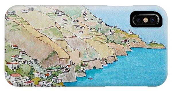 Amalfi Coast Praiano Italy IPhone Case