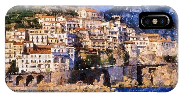 Amalfi Town In Italy IPhone Case