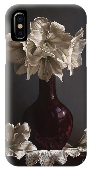 Realism iPhone Case - Amaryllis  by Lawrence Preston