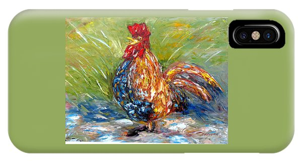 Amazed Rooster IPhone Case