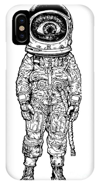 Space iPhone Case - Amazement Astronaut. Vector Illustration by Jumpingsack