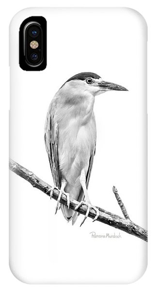 Amazonian Heron Black And White IPhone Case