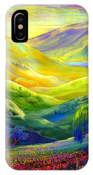 Texas iPhone Case -  Wildflower Meadows, Amber Skies by Jane Small