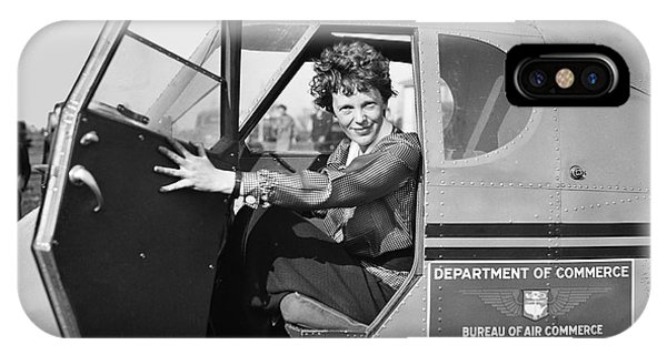 Airplane iPhone Case - Amelia Earhart - 1936 by Daniel Hagerman
