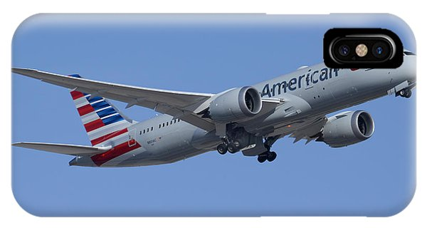 American Airlines Second Boeing 787-823 N801ac Take-off Phoenix Sky Harbor March 9 2015 IPhone Case