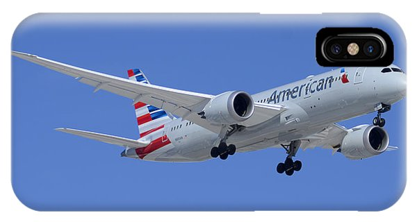 American American Airlines First Boeing 787-823 N800an Taking Off Phoenix Sky Harbor March 6 2015  IPhone Case