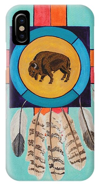 American Bison Dreamcatcher IPhone Case