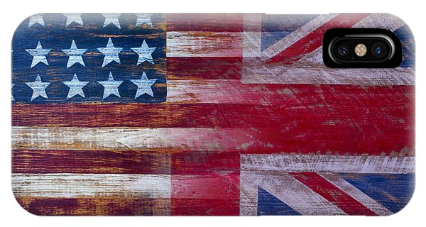 Woods iPhone Case - American British Flag by Garry Gay