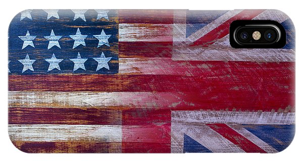 Proud iPhone Case - American British Flag by Garry Gay