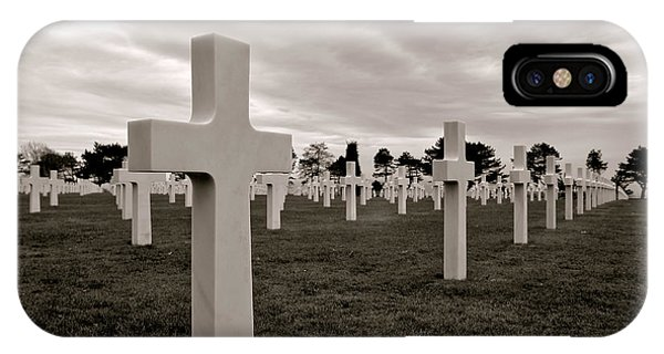 Normandy iPhone Case - American Cemetery In Normandy  by Olivier Le Queinec