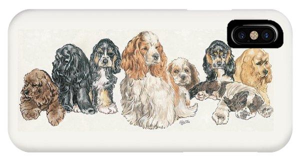 American Cocker Spaniel Puppies IPhone Case