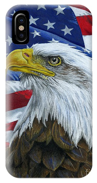 Stars And Stripes iPhone Case - American Eagle by Sarah Batalka