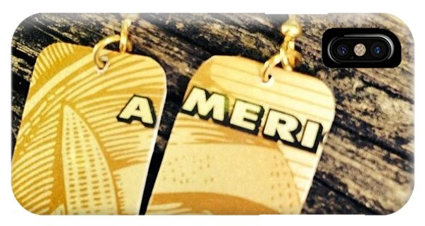 Cool iPhone Case - American Express Ooak Earrings Designed by Marianna Mills