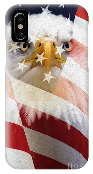 American Flag And Bald Eagle Montage IPhone Case