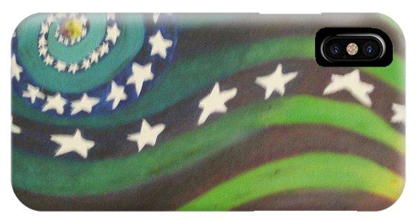 American Flag Reprise IPhone Case