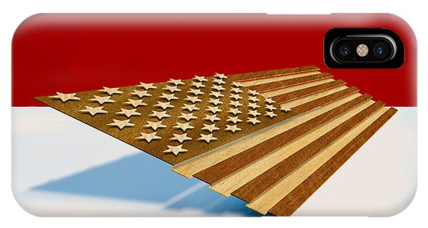 American Flag Wood IPhone Case