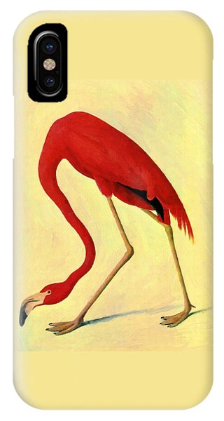 IPhone Case featuring the painting American Flamingo by Audubon