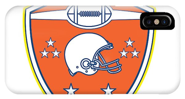 cf0e5e207fa American Football Helmet Stars Shield Retro Phone Case by Aloysius  Patrimonio