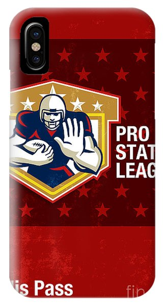 American Football Pro State League Poster Art Phone Case by Aloysius Patrimonio