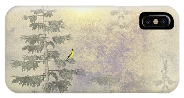American Goldfinch Morning Mist  IPhone Case