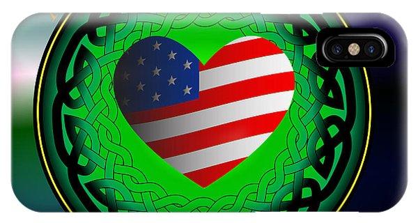American Heart Irish Blood IPhone Case