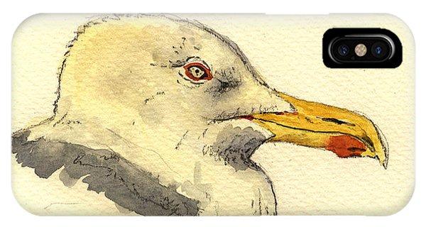 Smithsonian iPhone Case - American Herring Gull by Juan  Bosco