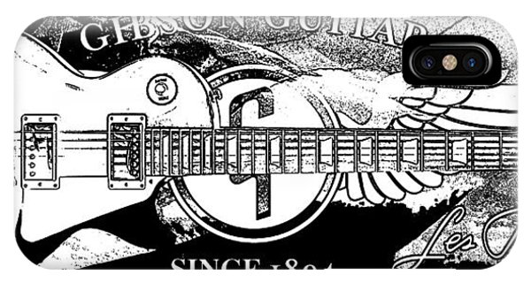 Guitar Legends iPhone Case - American Legend Bw by Jon Neidert