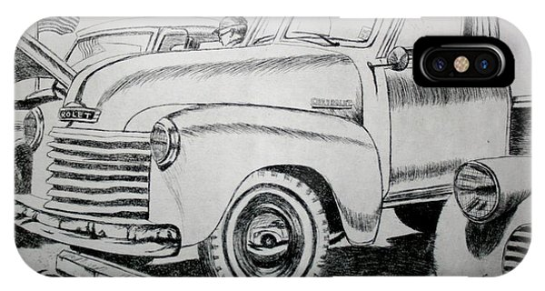 Old Chevy Truck iPhone Case - American Made by Stacy C Bottoms