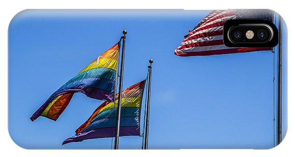 Gay Pride Flag iPhone Case - American Pride by Angus Hooper Iii