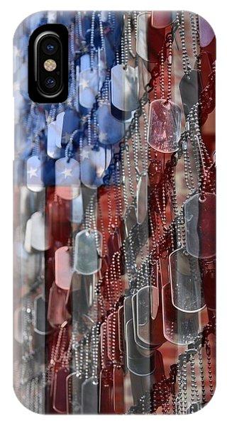 American Flag iPhone Case - American Sacrifice by DJ Florek