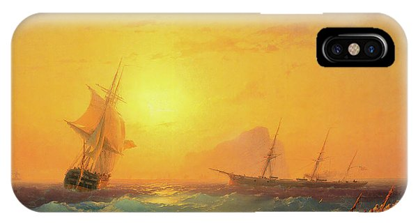 iPhone Case - American Shipping Off The Rock Of Gibraltar by Viktor Birkus