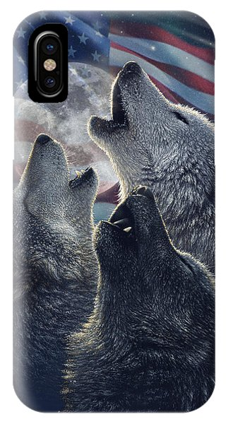 Wolf Trinity America IPhone Case
