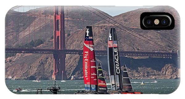 IPhone Case featuring the photograph Americas Cup At The Gate by Kate Brown