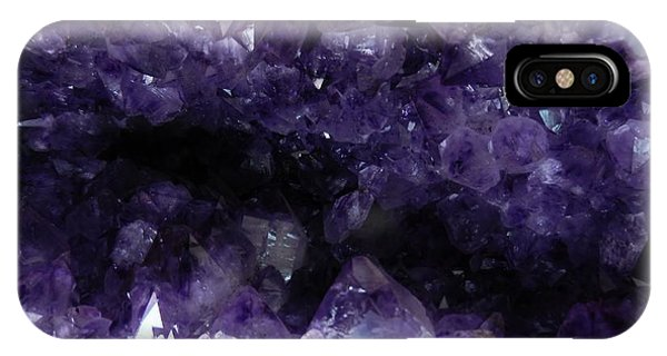 Amethyst Geode IPhone Case