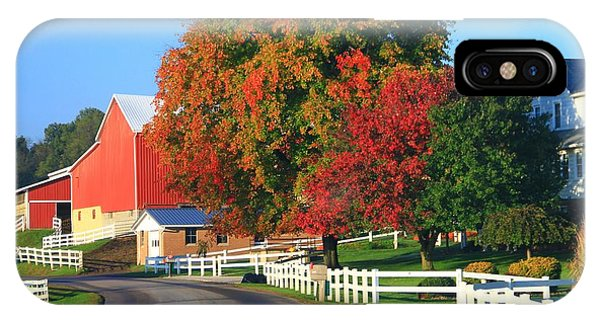 Amish iPhone Case - Amish Barn In Autumn by Dan Sproul