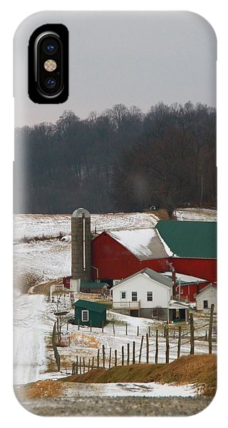 Amish Country iPhone Case - Amish Barn In Winter by Dan Sproul