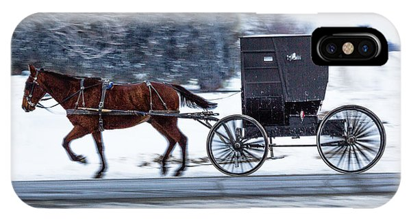 Amish Buggy In Winter IPhone Case