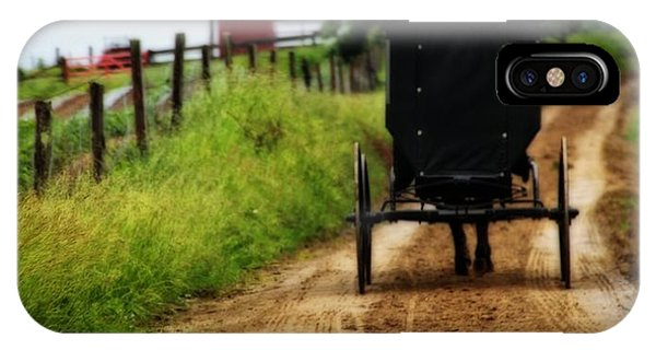 Amish Country iPhone Case - Amish Buggy On Dirt Road by Dan Sproul