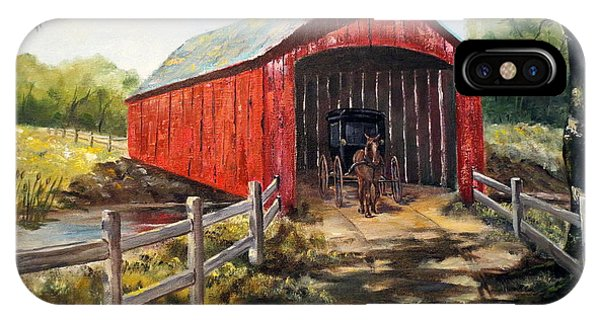 New England Barn iPhone Case - Amish Country by Lee Piper