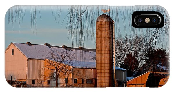 Amish Farm At Turquoise Dusk IPhone Case