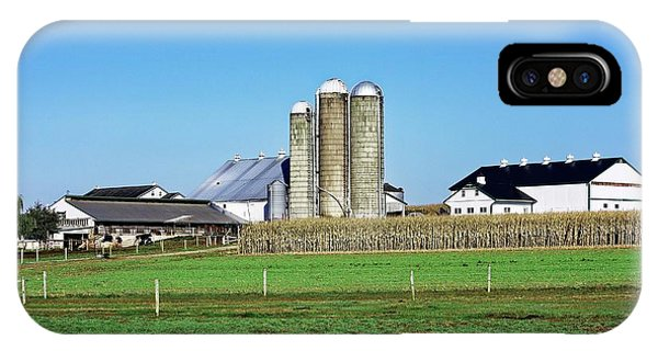 Silo iPhone Case - Amish Farm by John Greim/science Photo Library