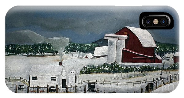 Amish Farm - Winter - Michigan IPhone Case