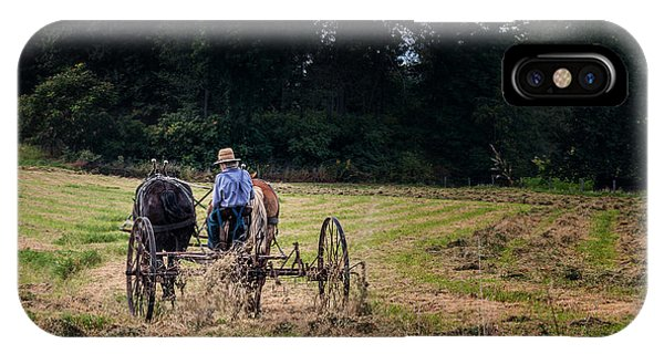 Cutting iPhone Case - Amish Farming by Tom Mc Nemar